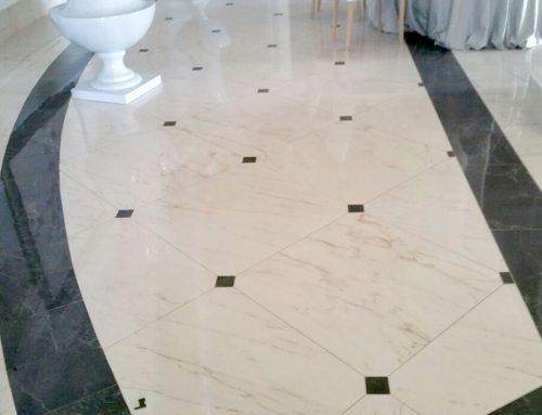 Posa in opera pavimenti marmorizzati