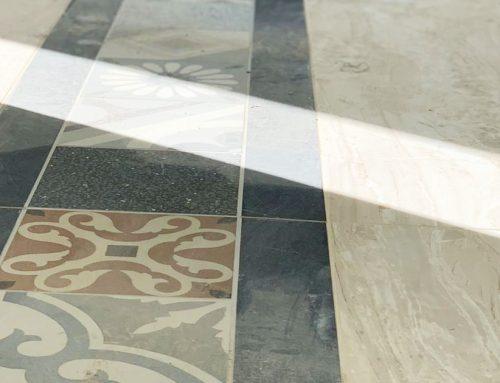 Posa in opera pavimento gres porcellanato effetto cementine